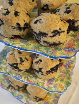 Photo of blueberry muffins