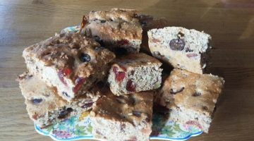 Cherry Bakewell Tea Loaf