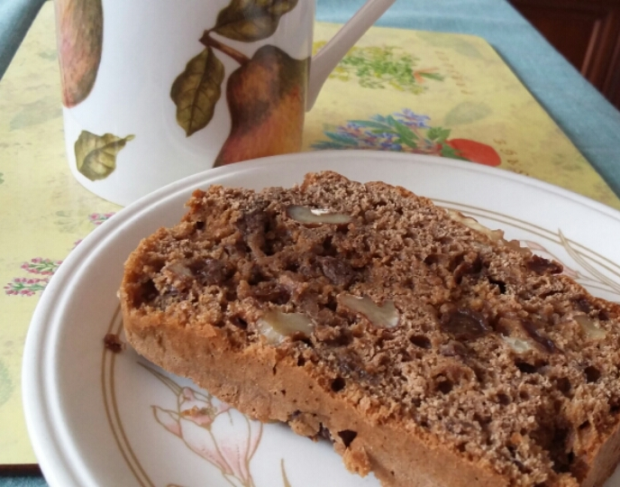 Coffee & Walnut Cake slice photo