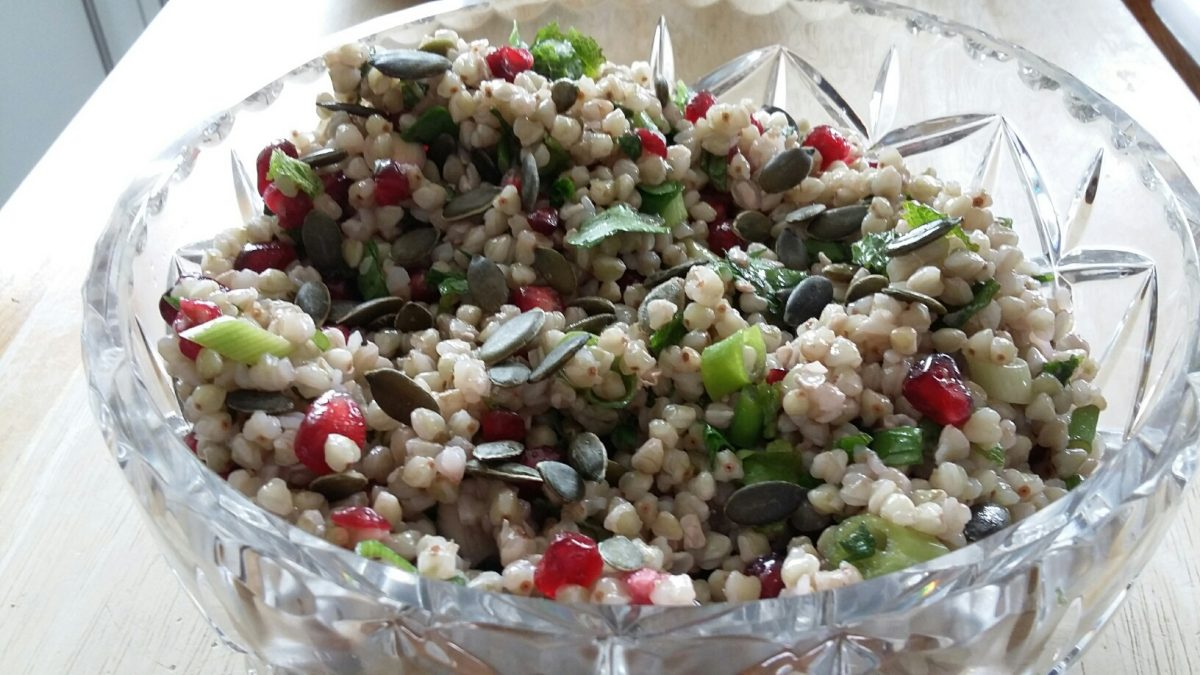 Photo of buckwheat and pomegranate salad
